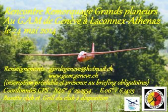 JOURNÉE REMORQUAGE AU GAM GENEVE LE 24/05/2014
