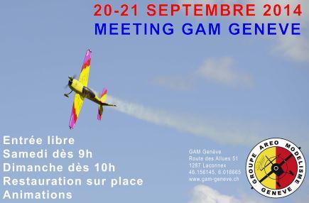 Meeting du GAM Genève : 20 et 21 septembre 2014