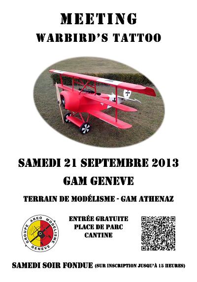 Programme Warbird Tatoo - 21 septembre 2013